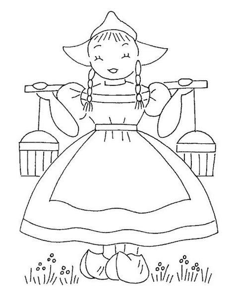 Kleurplaat Boertje En Boerinnetje by Embroidery Design Coloring Pages For Children