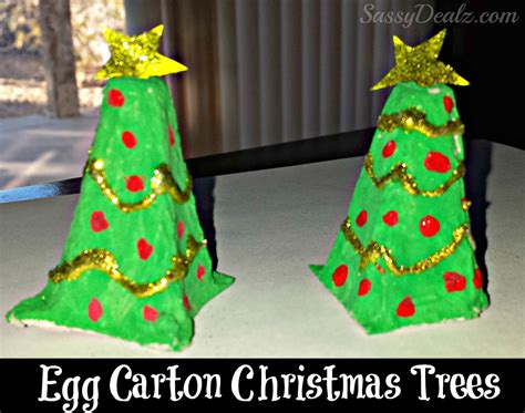 recycled egg carton christmas tree craft for kids crafty morning