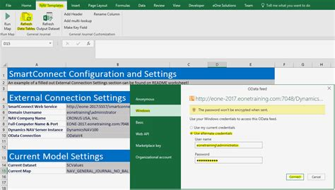 connections excel template tech tuesday setting up dynamics nav excel template
