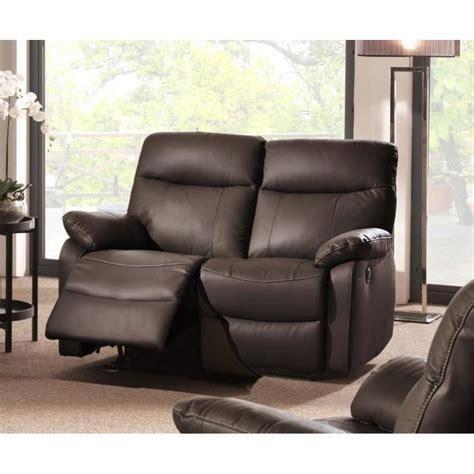 dimension canapé 2 places canapé 2 places cuir relax électrique marron quot suqi quot meuble