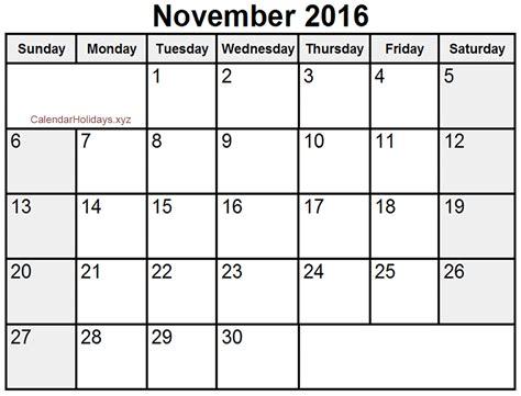 2016 calendar template november 2016 excel calendar november2016 excelcalendar