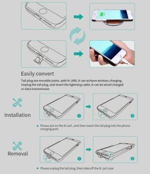iphone 7 induktives laden induktives qi nillkin n jarl braun iphone 7 plus