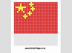 China Flag Fuse Bead Pattern