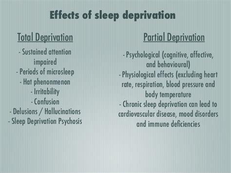 lesson  sleep deprivation