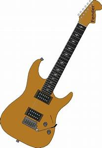 Red Electric Guitar clip art Free vector in Open office ...