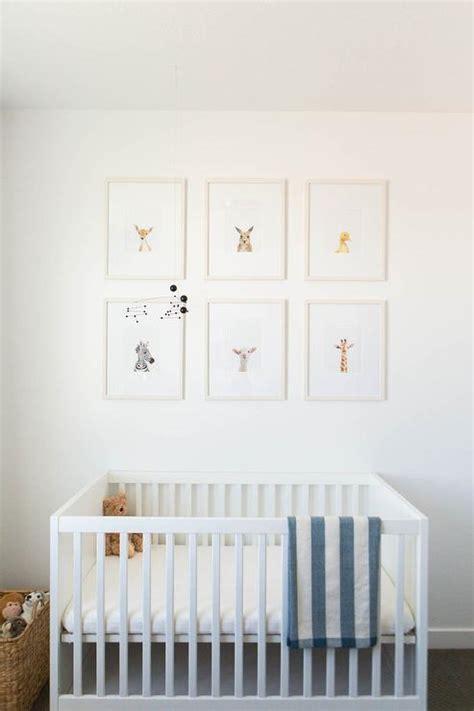 gray stain crib  baby animal art prints transitional