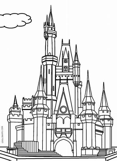 Castle Coloring Pages Disney Cinderella Printable