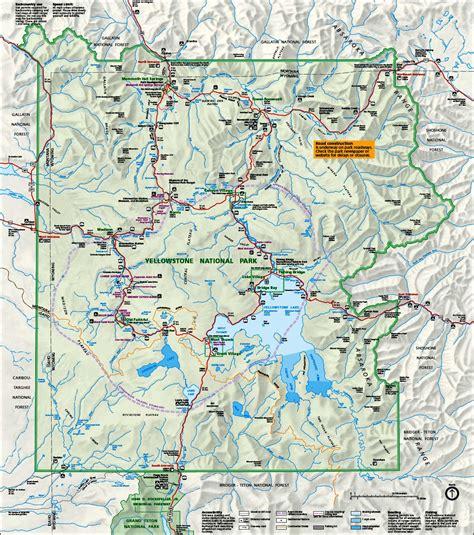 map  yellowstone national park travelsfinderscom