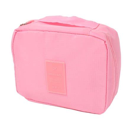 travel toiletry cosmetic makeup multi storage pouch case wash hanging bag pink walmart com