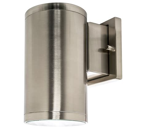 led wall sconce outdoor westgate led outdoor cylinder light up wall sconce