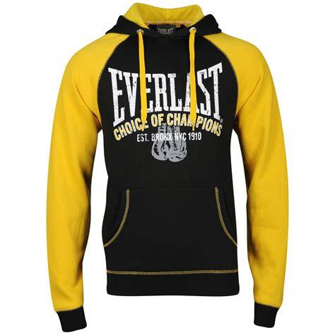 Everlast Mens Brushback Sweatshirt - Black/Yellow Mens Clothing | Zavvi