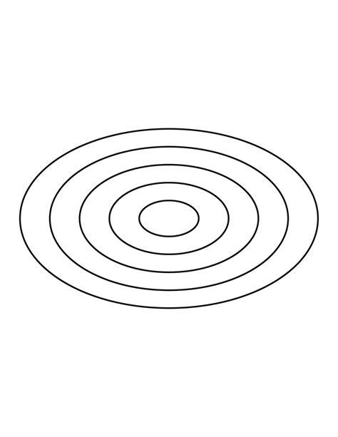 concentric ellipses clipart