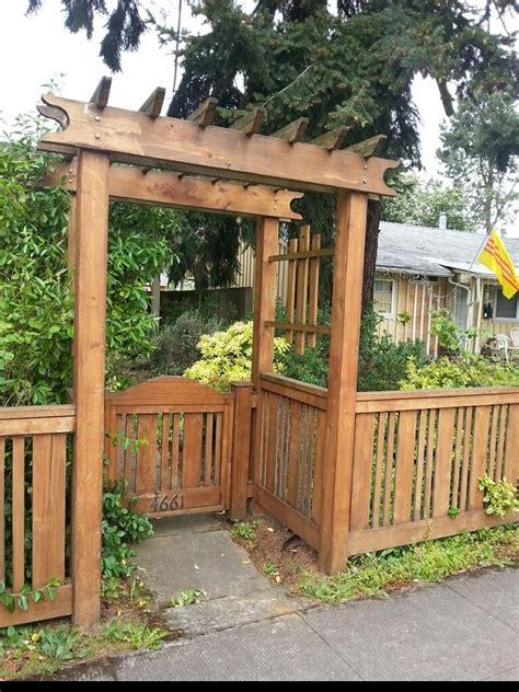 side yard fencegate patio railing backyard plan