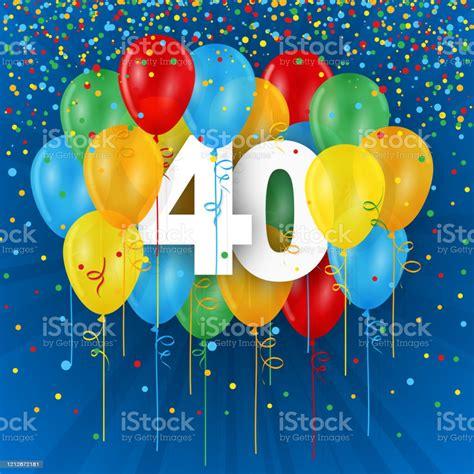Der überlieferung nach stammt auch dieser brauch aus bremen: 40 Jahre Mit Bunten Luftballons Stockfoto und mehr Bilder ...