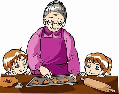 Grandma Clip Clipart Grandmother Cookies Cooking Grandparent