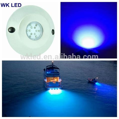 Surface Mount Underwater Boat Lights by 60w Ip68 Blue Surface Mount Underwater Led Boat Lights 12v