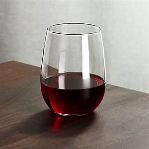 Stemless, Red, Wine, Glass, 17, Oz