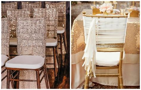 deco chaise mariage decoration de mariage or et argent idées et d