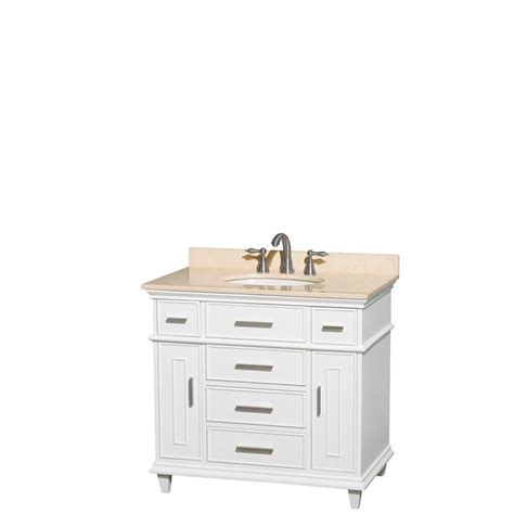 wyndham collection berkeley 36 inch w vanity in white with