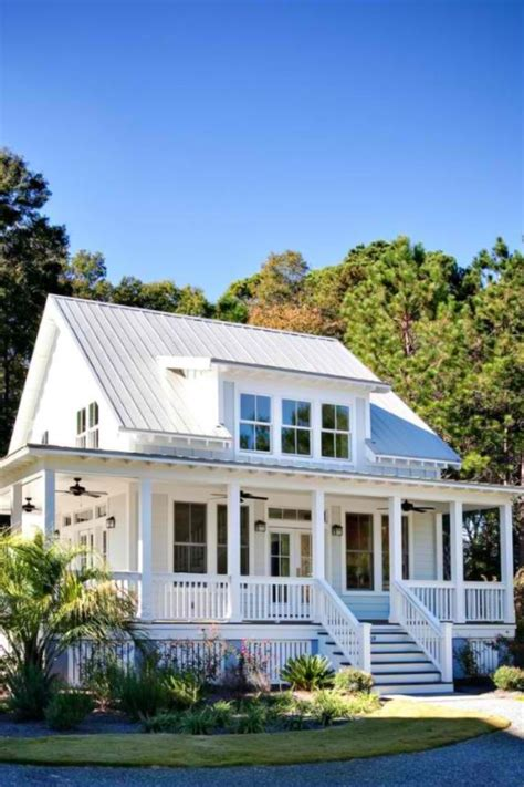 white house metal roof exteriors pinterest front porches metals  house