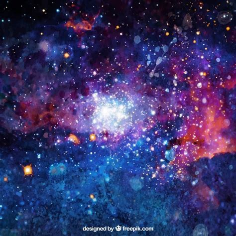 Anime Night Sky Wallpaper Bright Watercolor Background Of Galaxy Vector Free Download