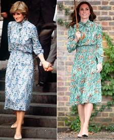 of honor dresses kate middleton channels princess diana in prada dress