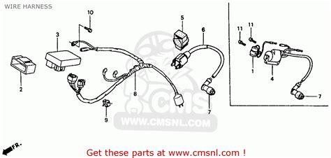 honda xr80r 1985 f usa wire harness schematic partsfiche