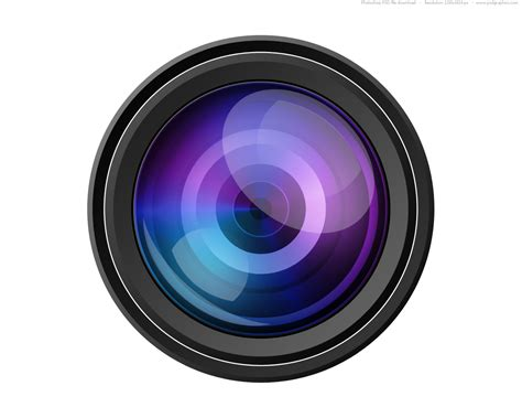 Psd Camera Lens Icon Psdgraphics