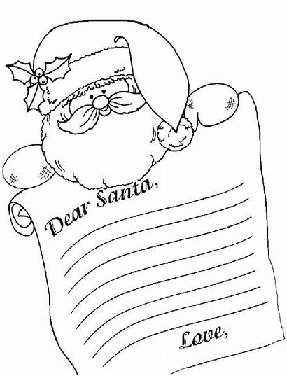 Santa Letter Coloring Template Dear Letters Write