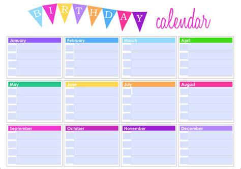 Family Birthday Calendar Template by Birthday Calendar Calendar Template Free Premium