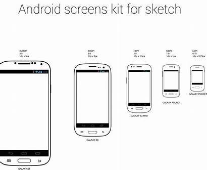 Android Screen Sizes Phone Mobile Kit Psd