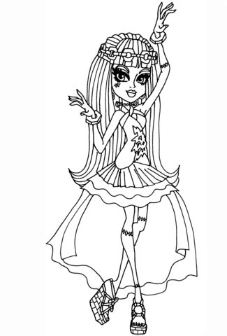Coloring Drawings by Frankie Stein 13 Wishes Coloring Page Free Printable