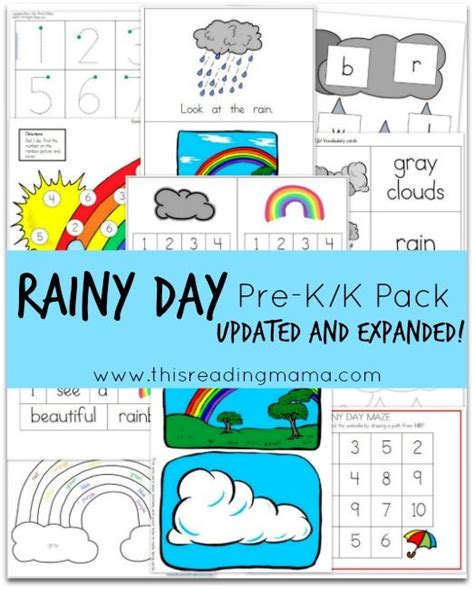 free rainy day pre k k pack updated and expanded 932 | c68d415302e5f1bfe63e9e62fdfa8eb7