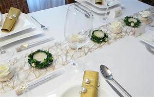 Tischdekoration Ideen Geburtstag : mustertische zur goldenen hochzeit bei tischdeko online ~ Frokenaadalensverden.com Haus und Dekorationen