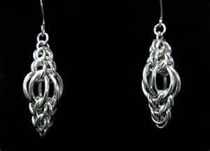 non pierced earrings chainmaille earrings ls silver lion