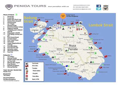 nusa penida tours map