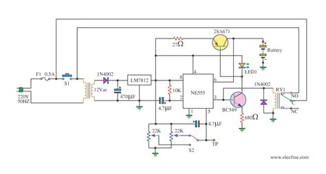 automatic battery charger 6v 12v with relay cut by