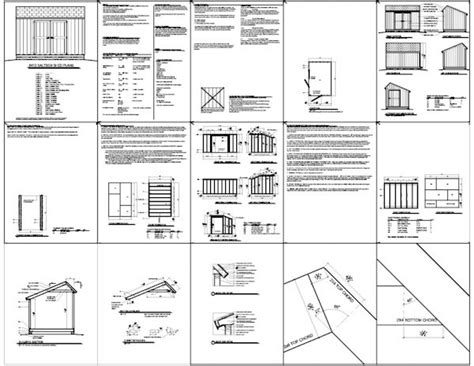 Saltbox Shed Plans 8x12 8x12 saltbox shed plans storage shed plans icreatables