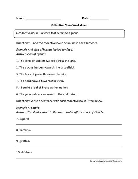 best 25 collective nouns worksheet ideas on