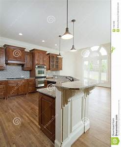 Model Luxury Home Interior Kitchen Arch Window Stock Image ...