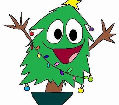 Christmas Cartoon Funny Tree Clipart Clip Trees