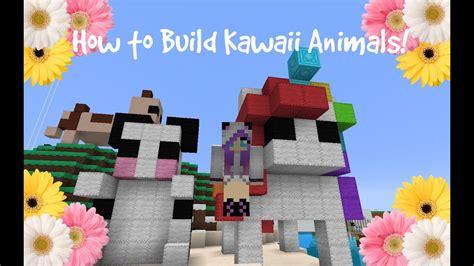 minecraft pc   build kawaiicute animals  minecraft youtube