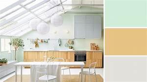 quelle couleur choisir pour une cuisine etroite With deco cuisine avec buffet chene clair