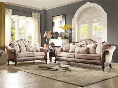 Living Room Sofas And Loveseats by Living Room Wood Trim Brown Chenille Fabric Sofa