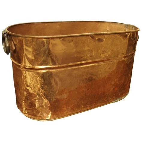 copper planters antique copper planter or storage container early 1900s at 1stdibs