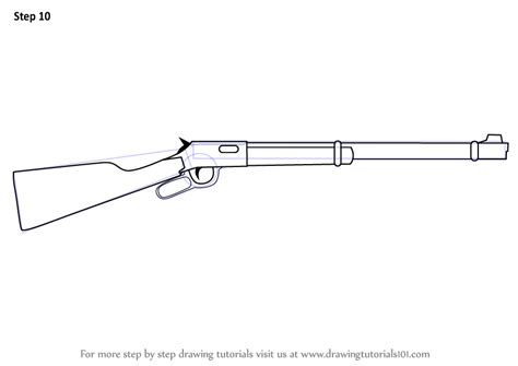 Learn How To Draw A Winchester Rifle (rifles) Step By Step
