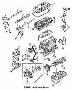 Dodge Colt Engine Camshaft Seal  Models  Head  Bearings