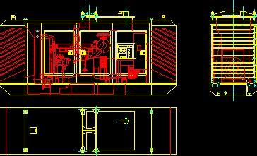 generator kv dwg section  autocad designs cad
