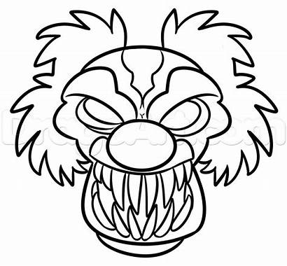 Clown Halloween Drawing Step Easy Clipartmag Dragoart