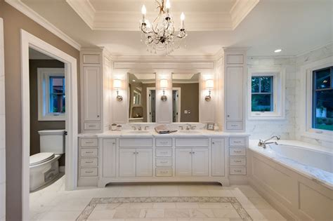 Master Bathroom Design Master Bath In White Traditional Bathroom San Francisco By Pinkerton Vi360